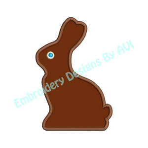Applique Chocolate Easter Bunny Rabbit Machine Embroidery Design - Embroidery Designs By AVI