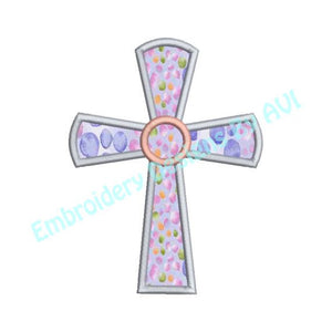Cross Applique Machine Embroidery Design - Embroidery Designs By AVI