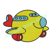 Cute Airplane Air Plane Boy Baby Child Machine Embroidery Design - Embroidery Designs By AVI