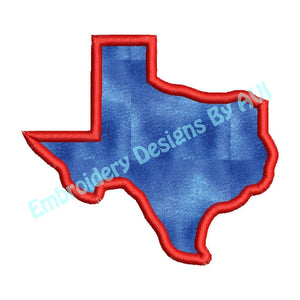 Texas State Applique Machine Embroidery Design - Embroidery Designs By AVI