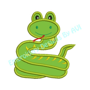 Snake Applique Machine Embroidery Design - Embroidery Designs By AVI