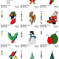 Mixed Christmas Machine Embroidery Designs ds3 - Set of 13 Instant Download Sale - Embroidery Designs By AVI