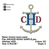 Anchor Nautical Monogram Fonts Machine Embroidery Designs Set - Embroidery Designs By AVI