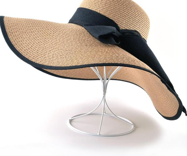Samantha Straw Sun Hat With Wide Brim and Bow in 10 Color Options - Glam Eyes Sunglasses