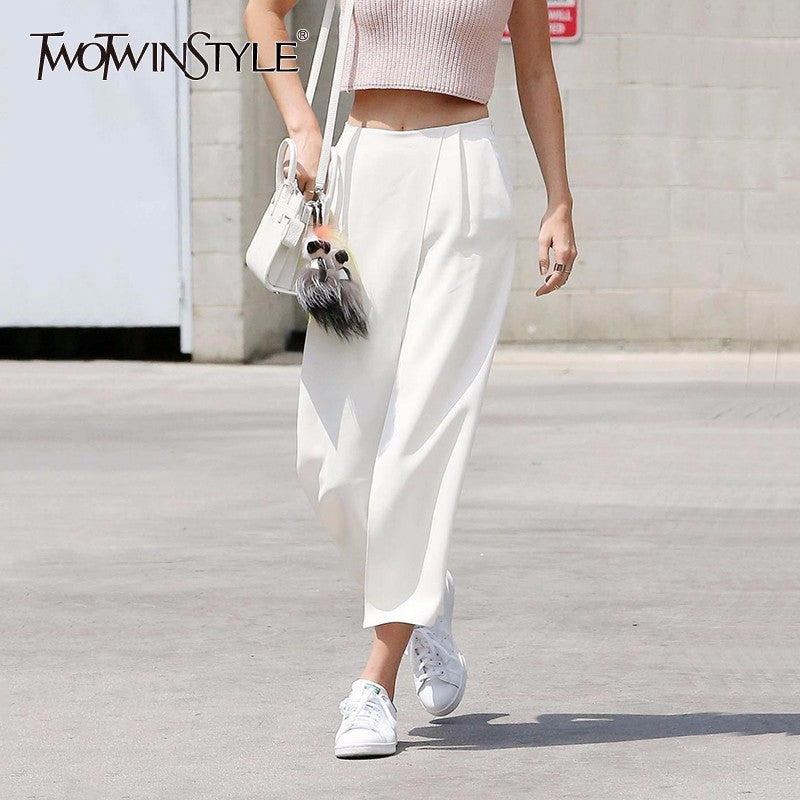 Reese Chiffon Flowy Wide Leg Pants With Pockets - Glam Eyes Sunglasses