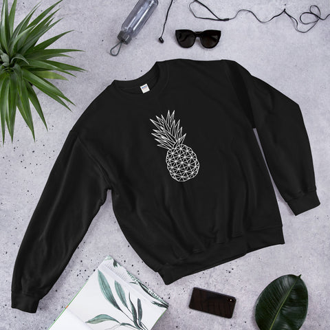 Geometric Pineapple Women crewneck sweater
