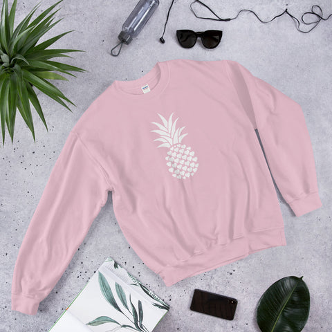 Heart of pineapple women crewneck sweater