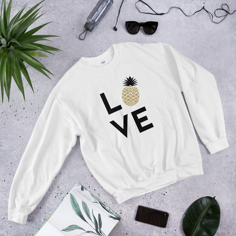 Pineapple love women crewneck sweater