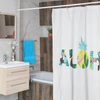 Aloha Pineapple Shower Curtains (White) - Happy Pineapple Co.