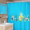 Aloha Pineapple Shower Curtains (Sky Blue) - Happy Pineapple Co.