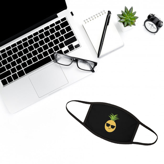 The Pineapple Everything™ Face Mask (Black) - THE PINEAPPLE EVERYTHING