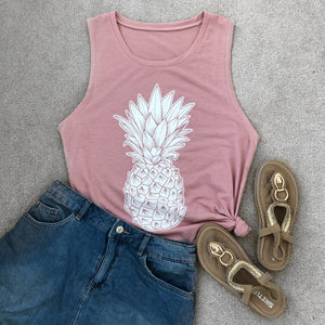 Pink Sky Pineapple Tank - The Pineapple Everything