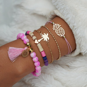 Pineapple Boho Bracelet Set - The Pineapple Everything