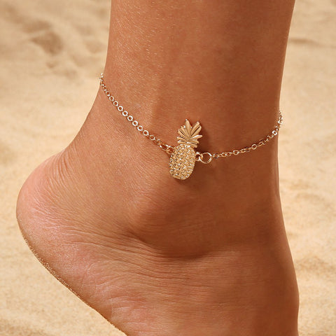 Dainty Pineapple Pendant Anklet - The Pineapple Everything