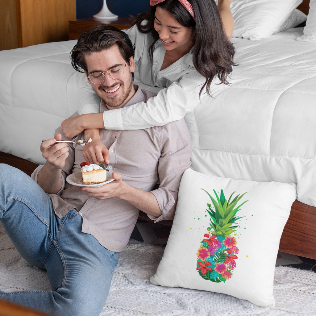 Pineapple Floral Pillow - Happy Pineapple Co.