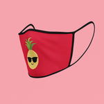 The Pineapple Everything™ Face Mask (Holiday Red) - The Pineapple Everything
