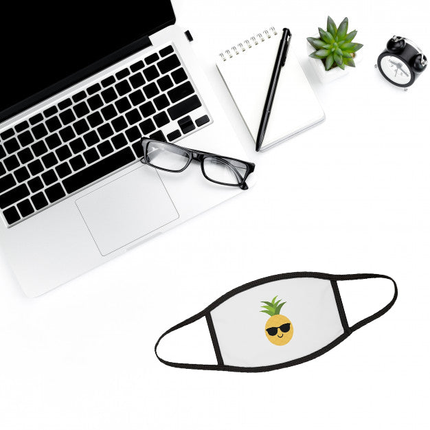 The Pineapple Everything™ Face Mask (White) - THE PINEAPPLE EVERYTHING