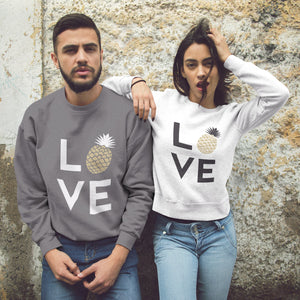 Pineapple Love Women's Crewneck Sweater - THE PINEAPPLE EVERYTHING