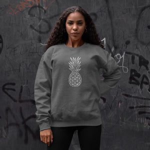 Geometric Pineapple Women's Crewneck Sweater - THE PINEAPPLE EVERYTHING