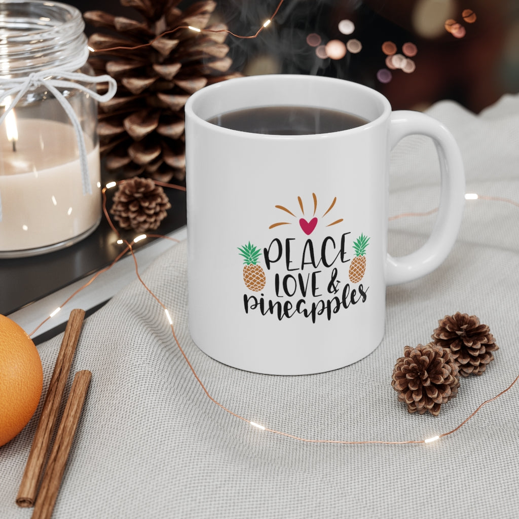 Peace, Love & Pineapples Mug - Happy Pineapple Co.