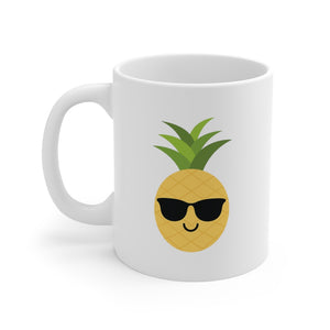 Happy as a Pineapple Mug (White) - THE PINEAPPLE EVERYTHING