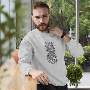 Geometric Pineapple Men's Crewneck Sweater - THE PINEAPPLE EVERYTHING