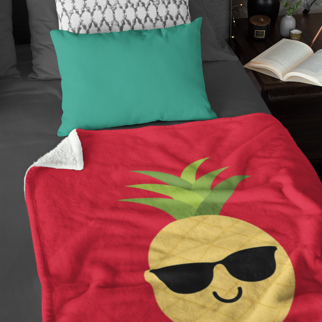 The Pineapple Everything Plush Blanket (Holiday Red) - The Pineapple Everything