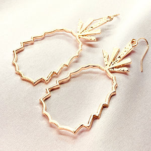 Bohemian Pineapple Hoop Earrings - Happy Pineapple Co.