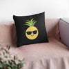Happy Pineapple Pillow (Black) - Happy Pineapple Co.