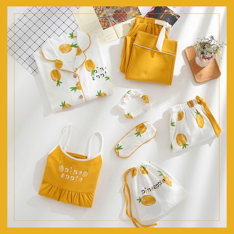 Pineapple Queen Sleepwear Set (7pcs) - The Pineapple Everything