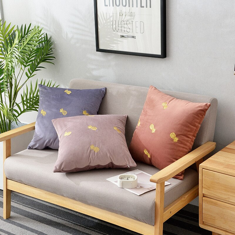 Plush Velvet Pineapple Pillowcase - THE PINEAPPLE EVERYTHING