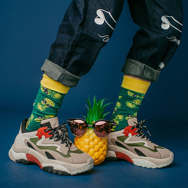 The Pineapple Everything Socks - The Pineapple Everything