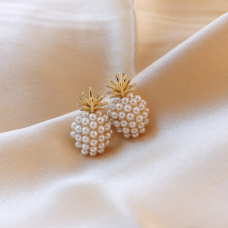 Pineapple Sweetness Pearl Earrings - Happy Pineapple Co.