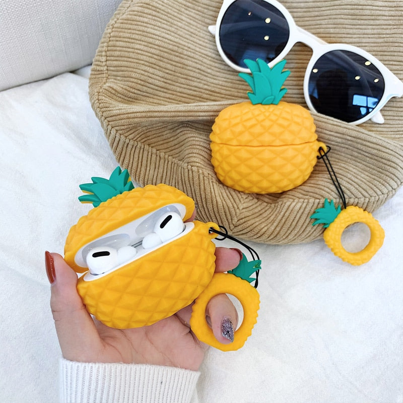 Geometric Pineapple AirPods Pro Case - Happy Pineapple Co.