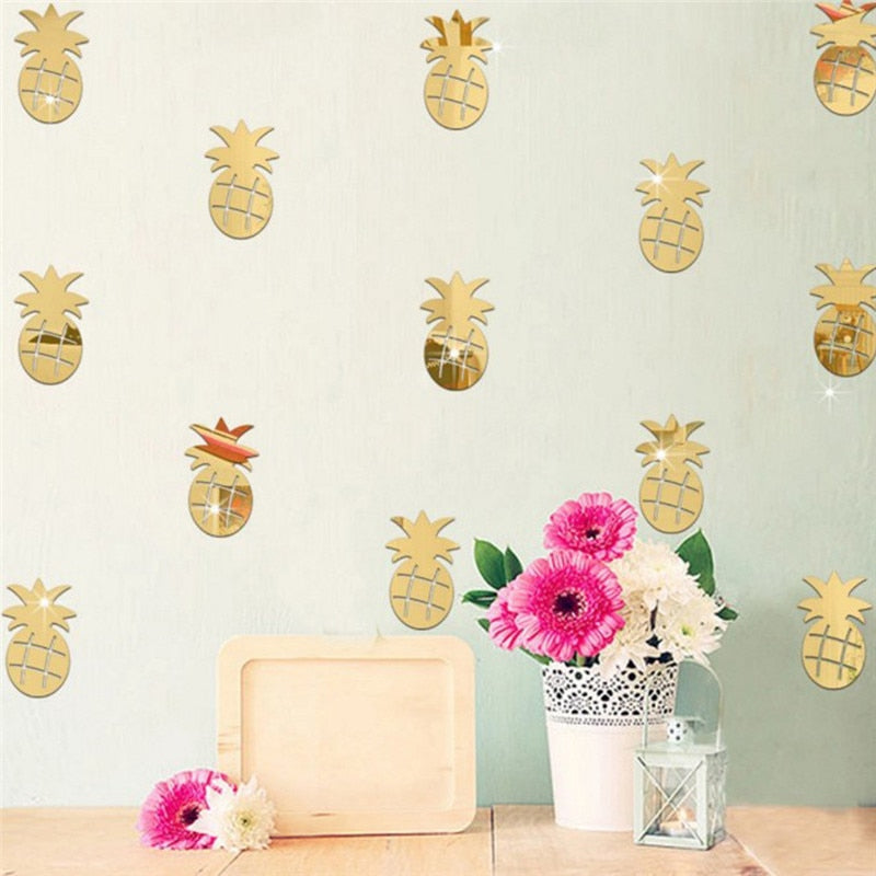 Pineapple Mirror Wall Sticker (12pc) - Happy Pineapple Co.