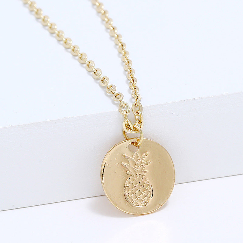 Golden Pineapple Coin Necklace - Happy Pineapple Co.