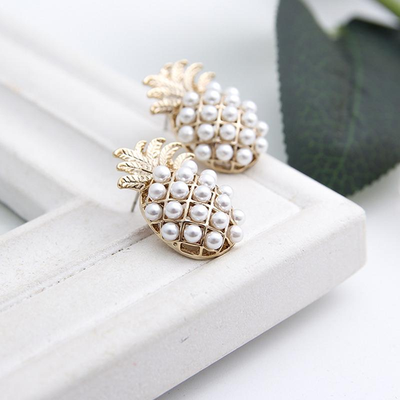 Pineapple Pearl Earrings - The Pineapple Everything