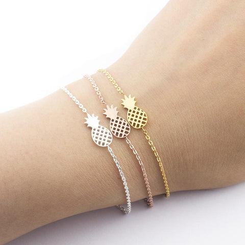 Dainty Pineapple Pendant Bracelet - The Pineapple Everything