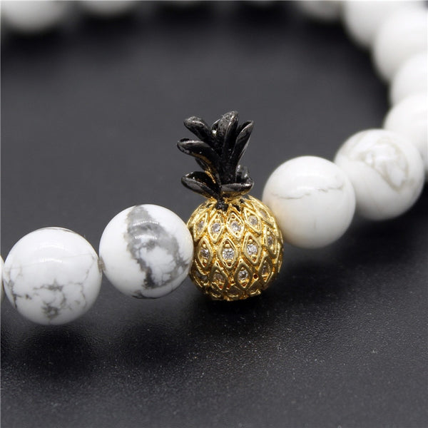 Pineapple Charm Stone Bracelets - The Pineapple Everything
