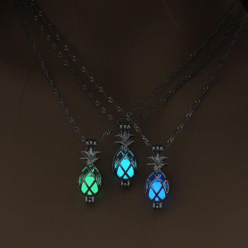 Glow in the Dark Pineapple Necklace - THE PINEAPPLE EVERYTHING