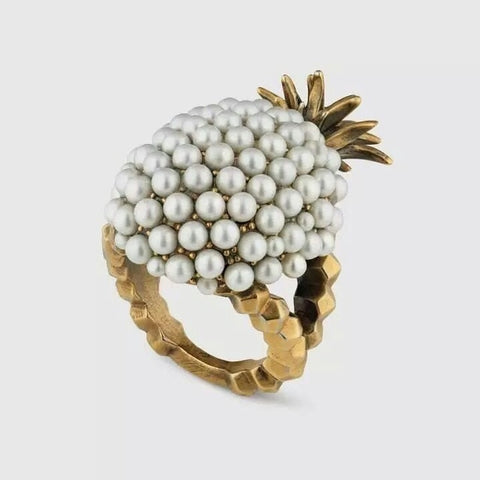 Antique Pineapple Statement Ring - The Pineapple Everything