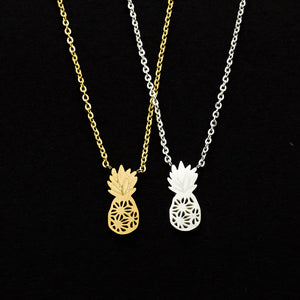 Geometric Pineapple Pendant Necklace - The Pineapple Everything