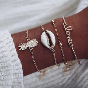 Pineapple Beach Love Bracelet Set - The Pineapple Everything