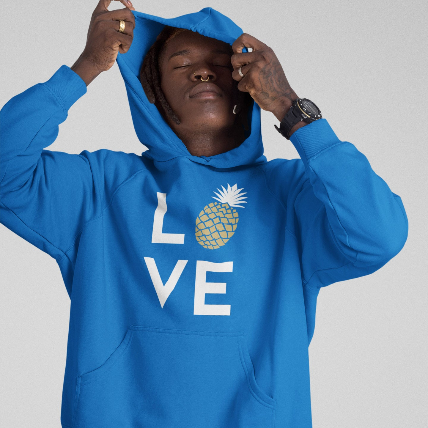 Pineapple Love Men's Hoodie - Happy Pineapple Co.