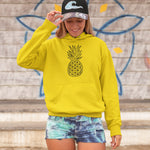 Geometric Pineapple Women's Hoodie - THE PINEAPPLE EVERYTHING