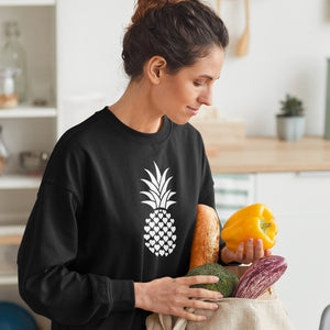 Heart of Pineapple Women's Crewneck Sweater - The Pineapple Everything