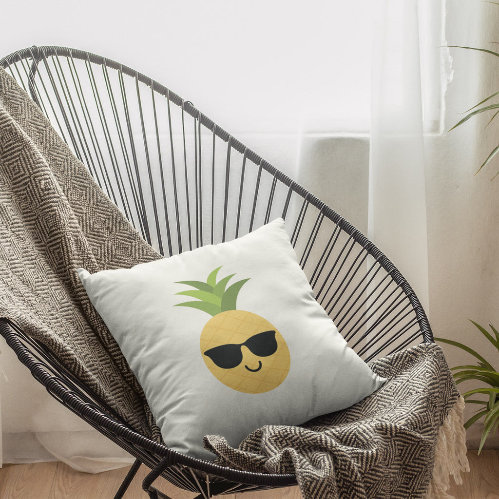 Happy Pineapple Pillow (White) - Happy Pineapple Co.