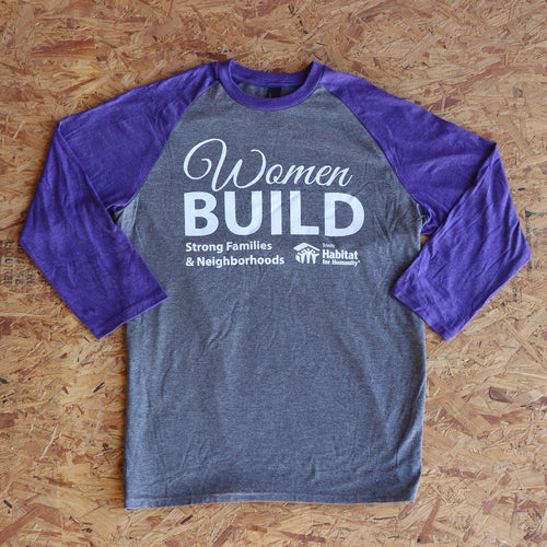 Women Build Baseball Tee