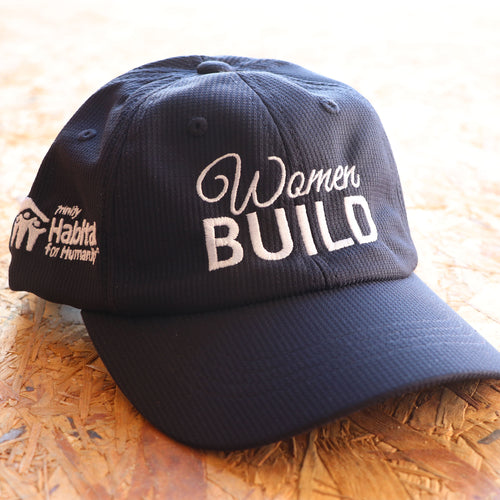 Women Build Moisture-Wicking Cap - Navy Blue