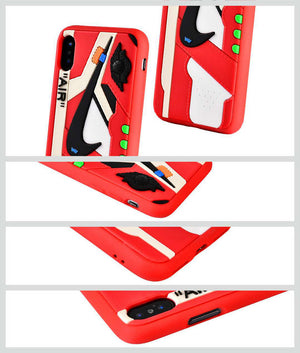 OFF-WHITE 3D Textured iPhone Case - Red